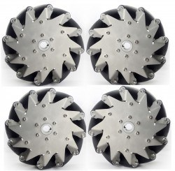203mm Stainless Steel Mecanum Wheels with Rubber Rollers(4 pieces)14151 - Thumbnail