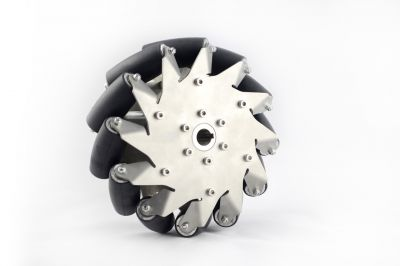 203mm Stainless Steel Mecanum Wheels with Rubber Rollers(4 pieces)14151