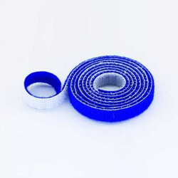 China - 20mm Wide Velcro (loops & hooks integrated) 1 Meter Blue