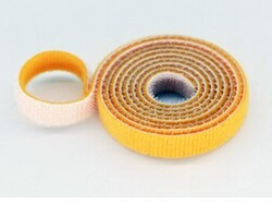 China - 20mm Wide Velcro (loops & hooks integrated) 1 Meter - Yellow