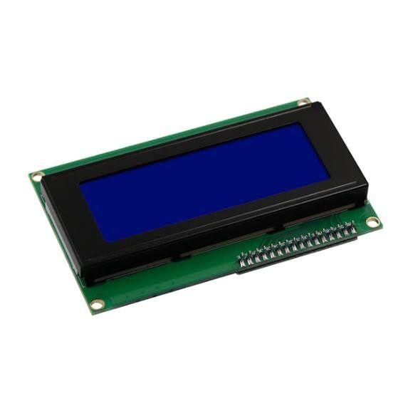 20x4 LCD Ekran - I2C Lehimli Mavi Display