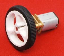 210:1 6 V 140 RPM Karbon Fırçalı Mikro Metal DC Motor - Thumbnail