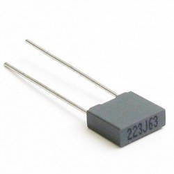 China - 2.2nF 100V Polyester Capacitor Package - 5