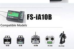 2.4GHZ 10CH Flysky FS-iA10B Alıcı PPM S-BUS Çıkışı 10Kanal Uzaktan Kumanda Alıcı - Thumbnail
