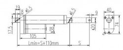 24 V DC 100 mm Lineer Aktüatör - Thumbnail