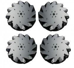 Nexus Robot - 254mm (10 inches) Aluminium Mecanum Wheel /w Bearing Rollers, 14131
