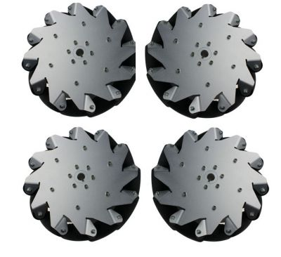 254mm (10 inches) Aluminium Mecanum Wheel /w Bearing Rollers, 14131