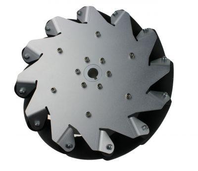 254 mm Alüminyum Mecanum Tekerlek Seti - Rulmanlı Rulo, 14131