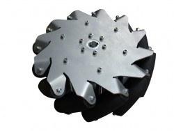 254 mm Çelik Mecanum Tekerlek Seti - Rulmanlı Rulo, 14141 - Thumbnail