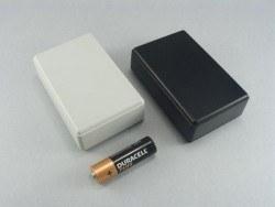 Proje Kutusu - 27x58x92mm Hand Type Storage Box (Black)