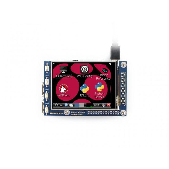 WaveShare 2.8 Inch Rezistif Dokunmatik LCD Ekran - 320x240 (A)