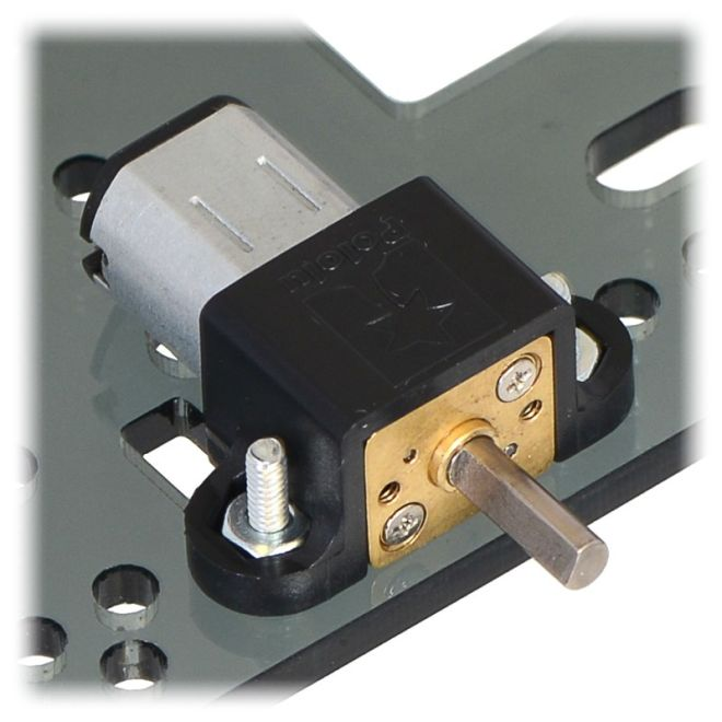 298:1 6 V 100 RPM Karbon Fırçalı Redüktörlü Mikro DC Motor
