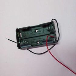 Robotistan - 2′li AA Pil Yuvası(Yassı)
