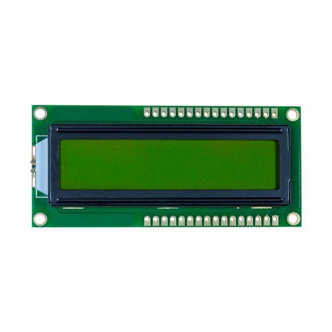 2x16 LCD Screen - Black Over Green - TC1602A