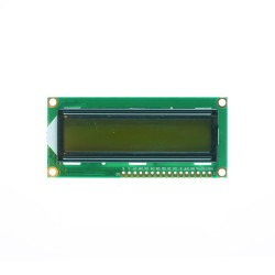 2x16 LCD Screen - Green on Black - Thumbnail