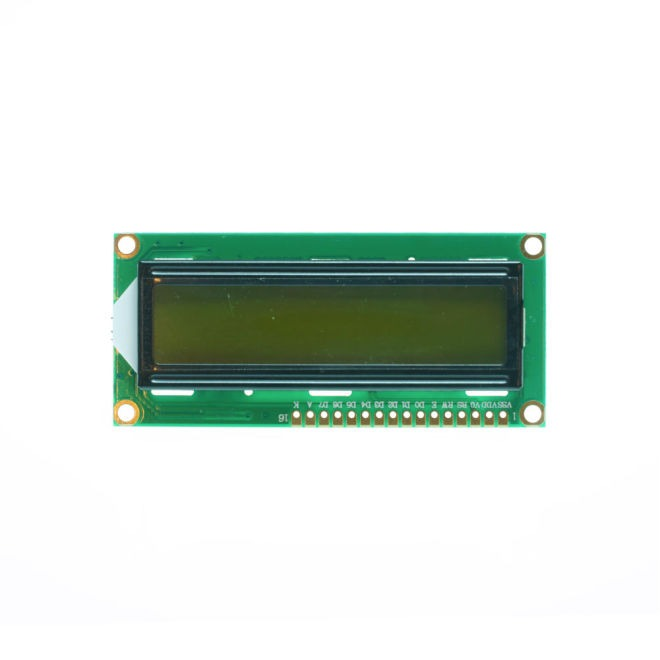 2x16 LCD Screen - Green on Black