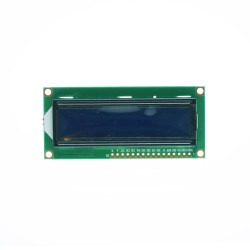 China - 2x16 LCD Screen White on Blue