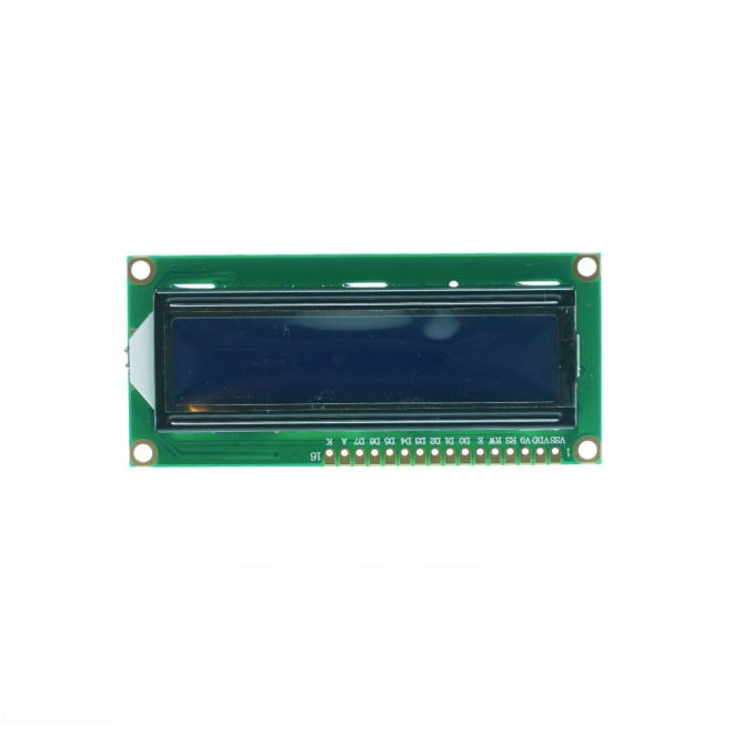2x16 LCD Screen White on Blue