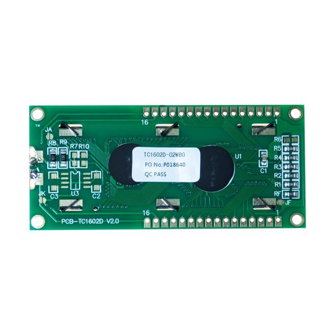 2x16 LCD Screen White over Blue - TC1602A