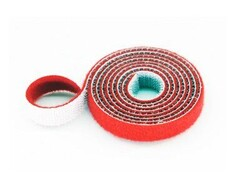 China - 30mm Wide Velcro (loops & hooks integrated) 1 Meter - Red