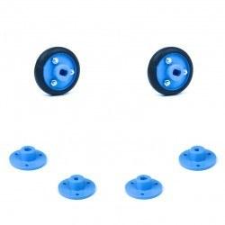 Robotistan - 30x8 mm Mavi Renk Geçmeli Tekerlek Seti