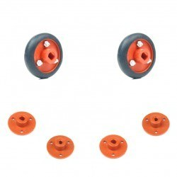 30x8mm Orange Wheel Set - Thumbnail