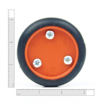 30x8 mm Turuncu Renk Geçmeli Tekerlek Seti