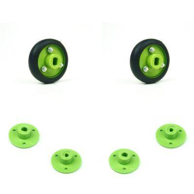 30x8 mm Yeşil Renk Geçmeli Tekerlek Seti