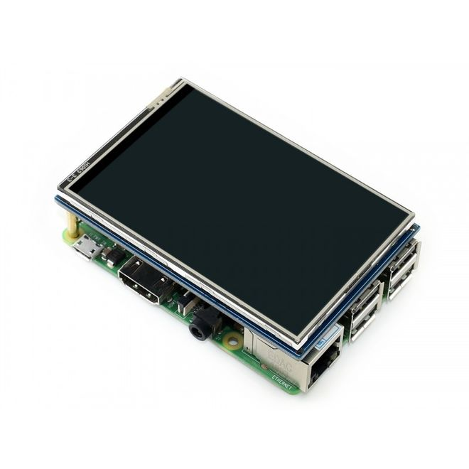 WaveShare 3.5 Inch Rezistif Dokunmatik LCD Ekran - 480x320 (B)