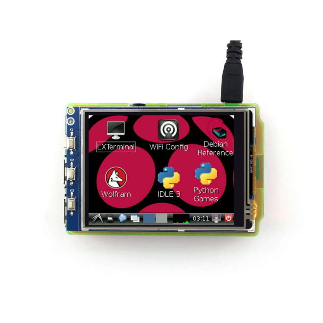 3.2 Inch Raspberry Pi Dokunmatik LCD Ekran (Birincil Ekran)