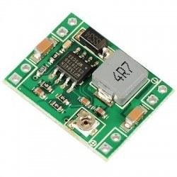 Robotistan - MP1584EN 3 A Mini Ayarlanabilir Voltaj Düşürücü Regülatör Kartı - Step Down