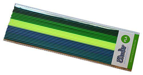 3Doodler PLA Rainforest River 25'li Filament Pack