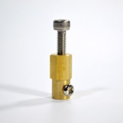 3mm Brass Hex Coupling For 38MM Plastic Omni Wheel - 18036 - Thumbnail