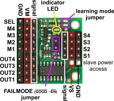 4-Channel RC Servo Multiplexer - PL2806