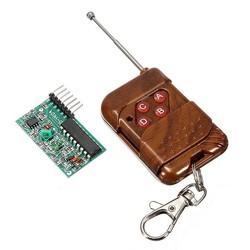 Robotistan - 4 Kanal 315 Mhz RF Kablosuz Kontrol Modülü, Alıcı + Verici