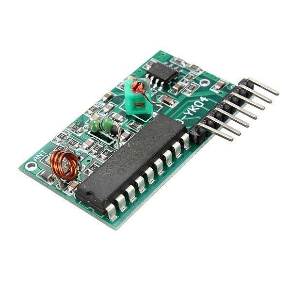 4 Kanal 315 Mhz RF Kablosuz Kontrol Modülü, Alıcı + Verici