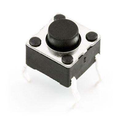 4 Pin Push Button - Black (6x6x5mm)