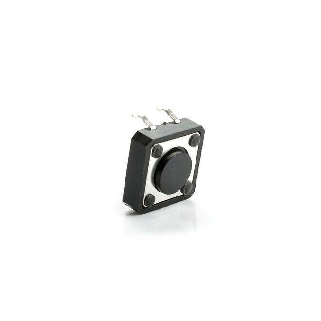 4 Pinli Push Buton - Siyah (12x12x1 mm)