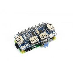 4 Port USB HUB HAT for Raspberry Pi - Thumbnail