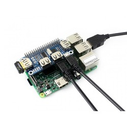 4 Port USB HUB HAT (Raspberry Pi için) - Thumbnail