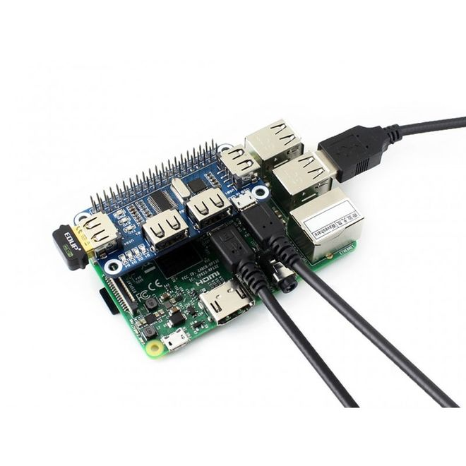 4 Port USB HUB HAT (Raspberry Pi için)