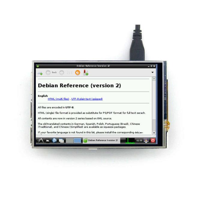 4 Inch Raspberry Pi Dokunmatik IPS LCD Ekran (Birincil Ekran)