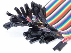 40 Pin Ayrılabilen Dişi-Dişi F-F Jumper Kablo - 100 mm - Thumbnail