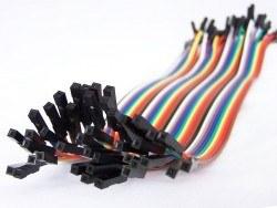 40 Pin Ayrılabilen Dişi-Dişi F-F Jumper Kablo-200 mm - Thumbnail