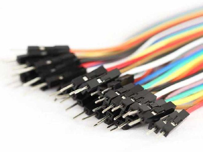 40 Pin Ayrılabilen Erkek-Erkek M-M Jumper Kablo - 100 mm