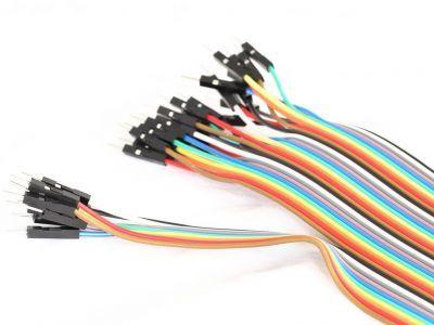 40 Pin Ayrılabilen Erkek-Erkek M-M Jumper Kablo-200 mm