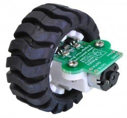 42x19 mm Wheel and Encoder Set - Teker - PL-1218 - Thumbnail