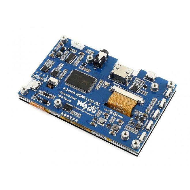 WaveShare 4.3 Inch HDMI Kapasitif Dokunmatik LCD - 800x480 (B)