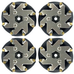 48 mm Steel Mecanum Wheels Set (4 pcs) - 14209 - Thumbnail