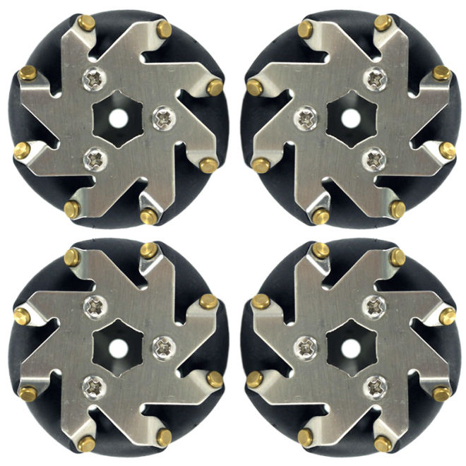 48 mm Steel Mecanum Wheels Set (4 pcs) - 14209